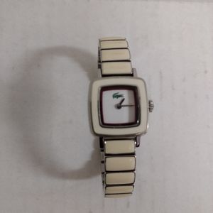 Lacoste Watch Ivory Link Band